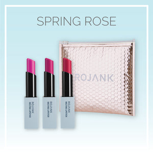 Rose Glossy Hydrating Sheer Satin Lipstick Gift Set - 3 Pack