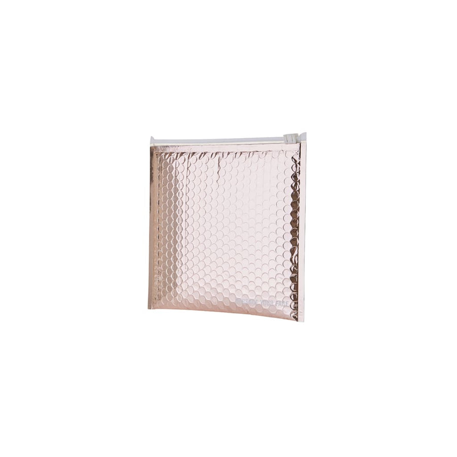 Rose Gold Zipper Bubble Bag - Consumables