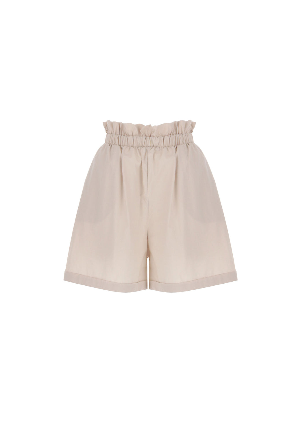 IMPERIAL | FLARED SHORTS WITH GATHERED WAIST