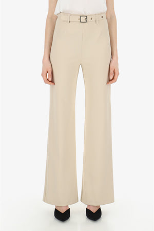 IMPERIAL | HIGH-WAISTED PALAZZO TROUSERS WITH BELT