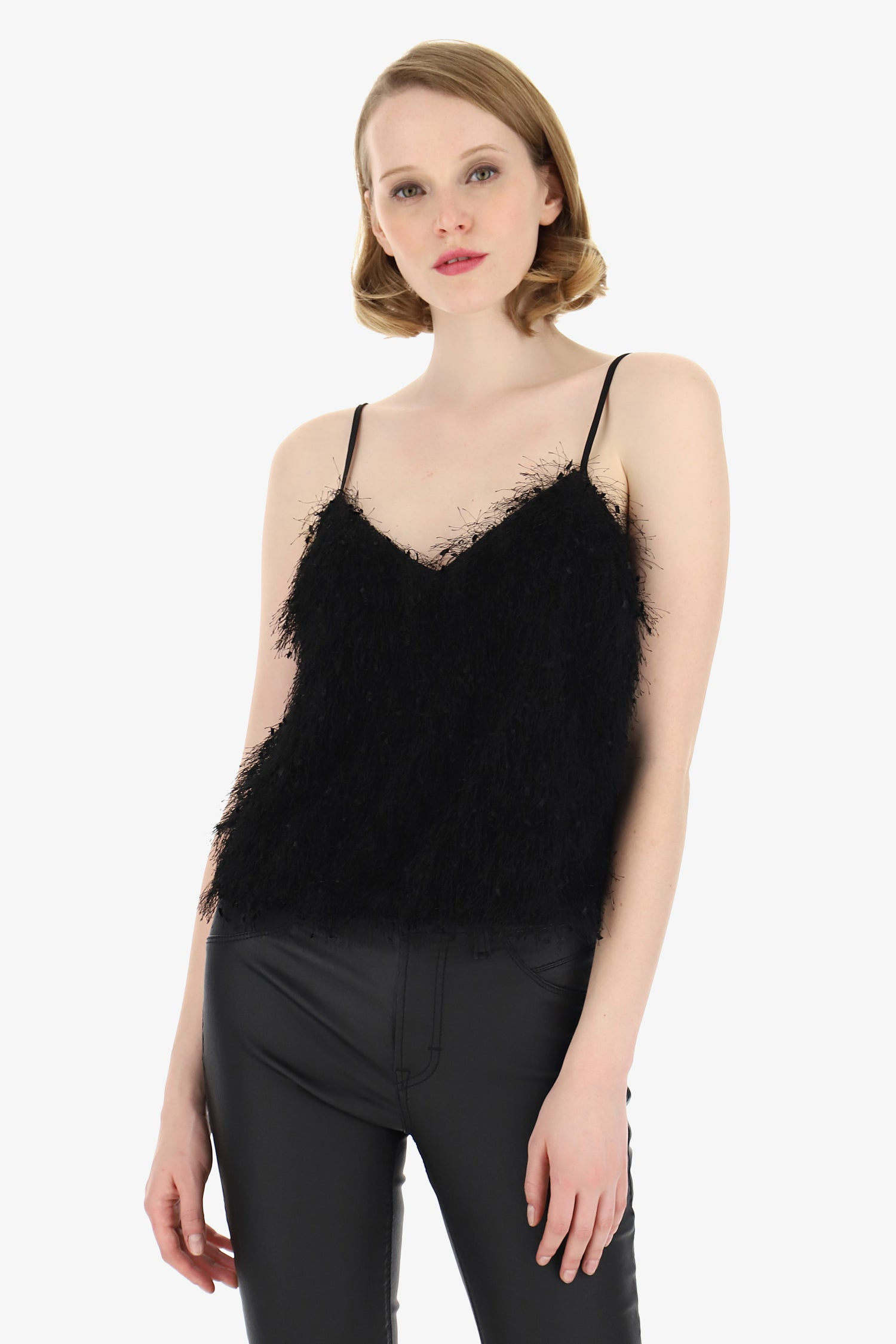 IMPERIAL | Lingerie top with feathers application