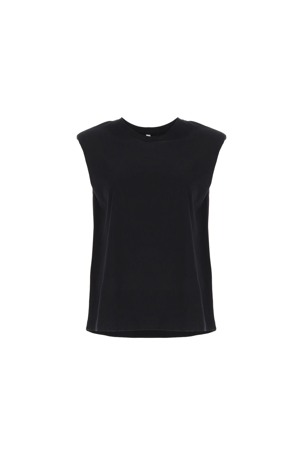 IMPERIAL | CREW-NECK TOP WITH SHOULDER PADS