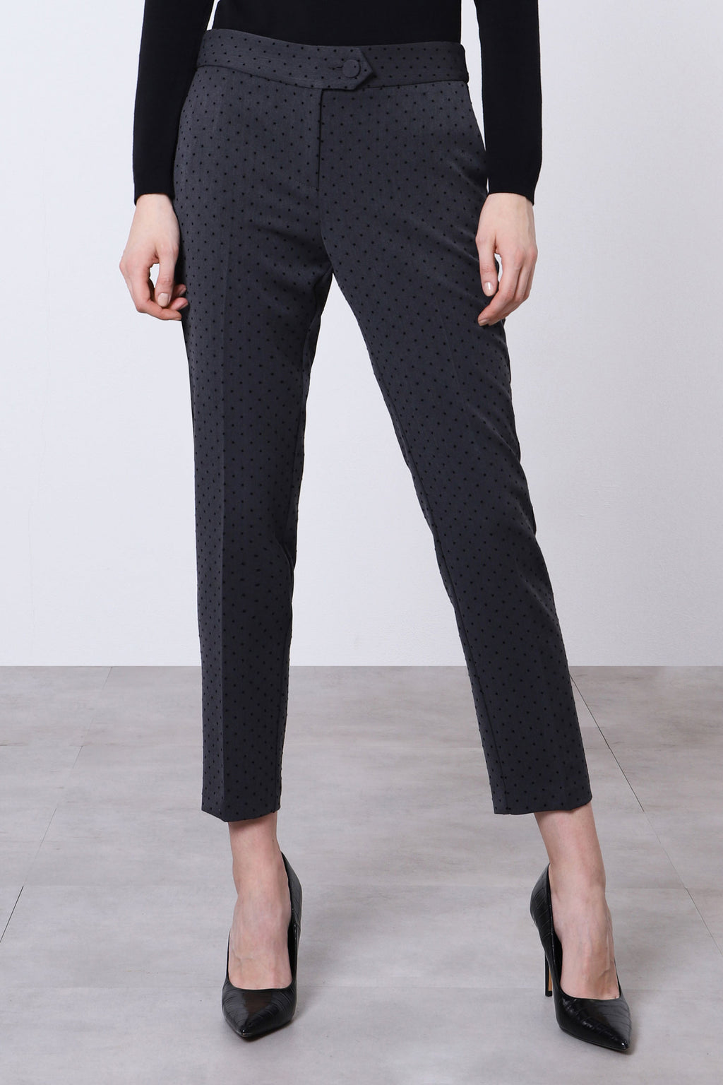 IMPERIAL | CLASSIC TROUSERS WITH MINI POLKA-DOT DESIGN