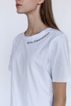 Le SLAP | Kind pure white cotton quote t-shirt