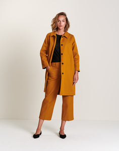 Bellerose LADJI COAT mustard yellow classic cotton madress