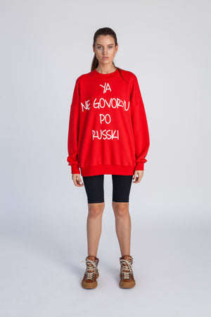 Le SLAP | RUSSKI red sweatshirt