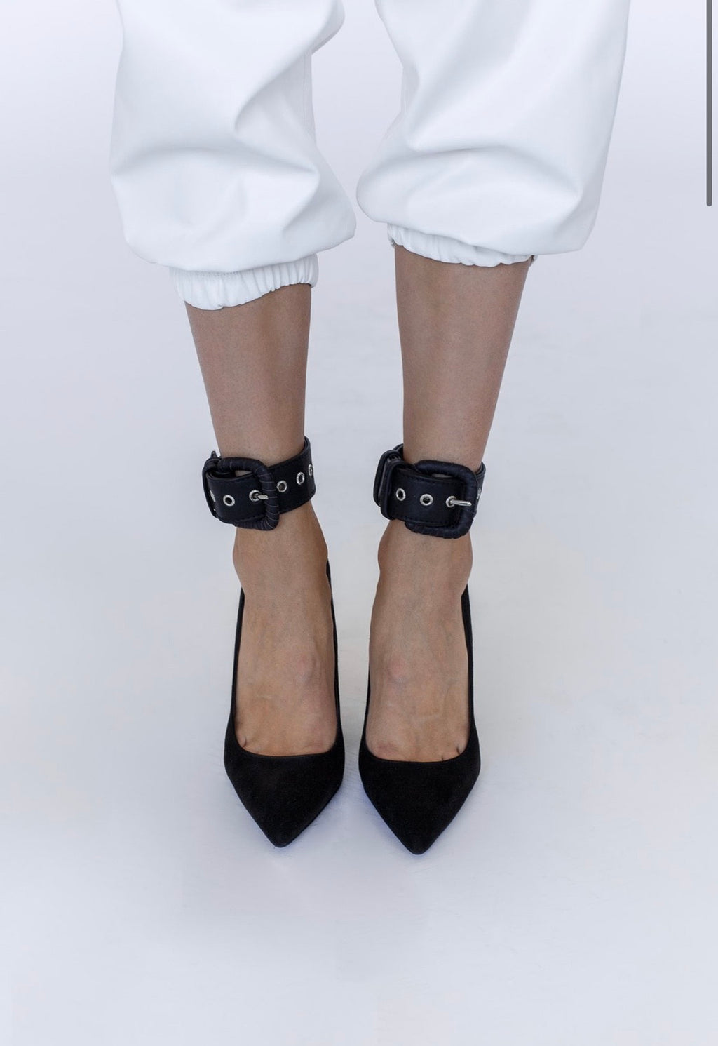 Le SLAP | Black real leather anklets