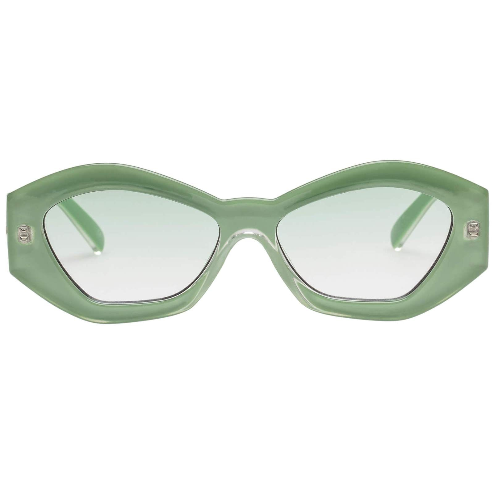Le Specs The Ginchiest Ripple Green Sunglasses
