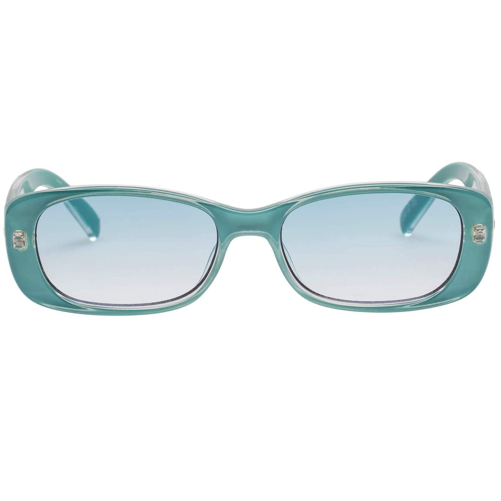 Le Specs Unreal blue Teal Sunglasses