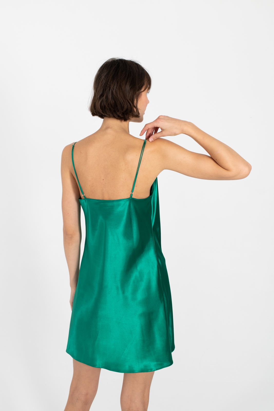 Le SLAP | NUDIST DEEP GREEN SLIP ON DRESS