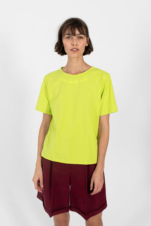 Le SLAP | FRIES lime yellow t-shirt