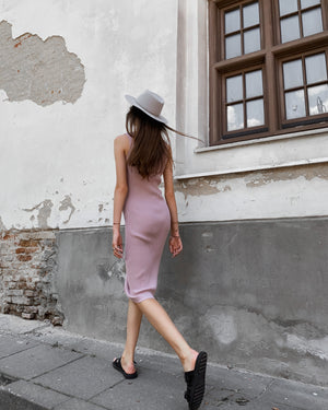 Andrè Maurice | Bodycon Midi Rose Pink Dress