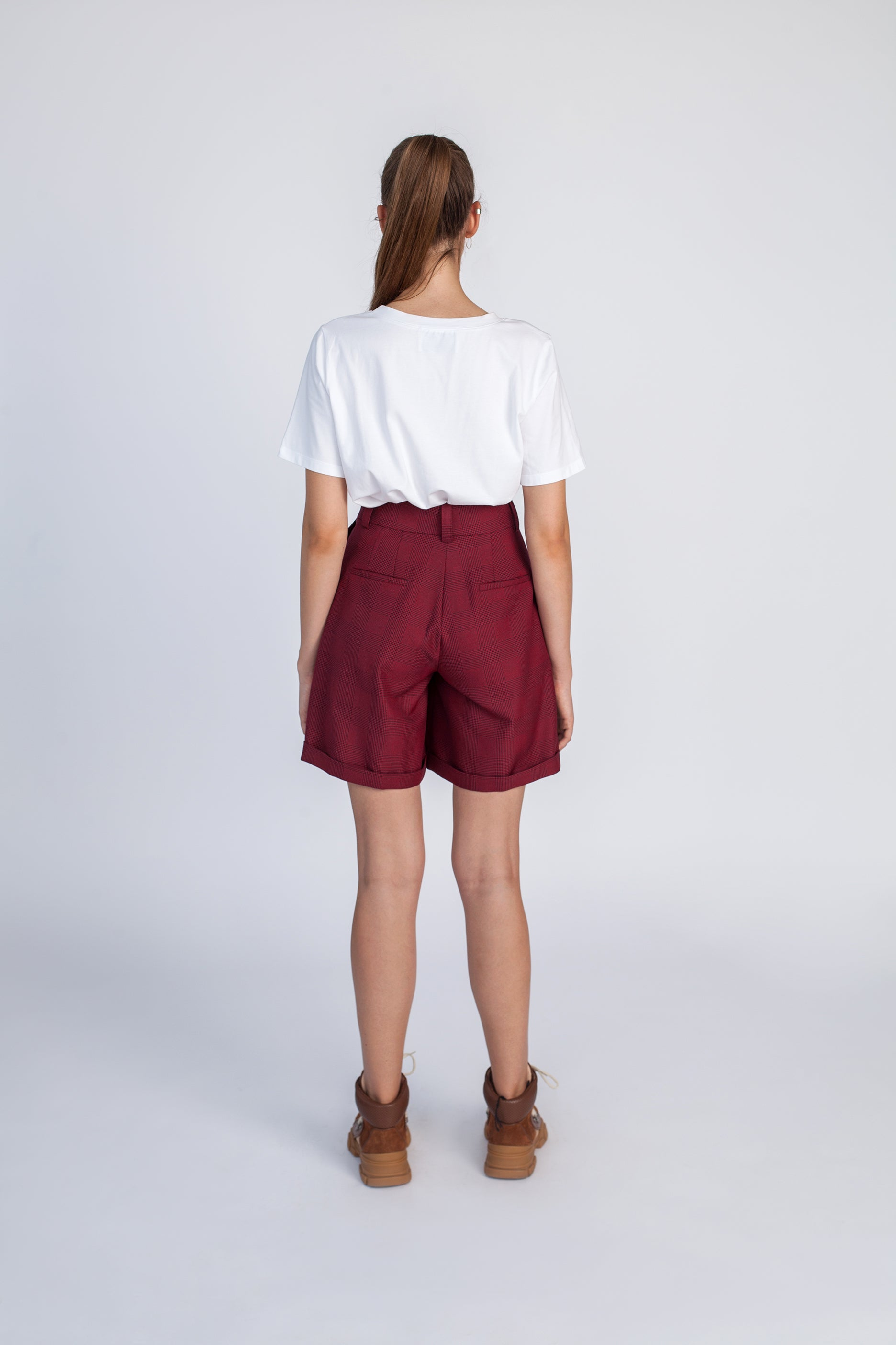 Le SLAP | Burgundy tailoring shorts