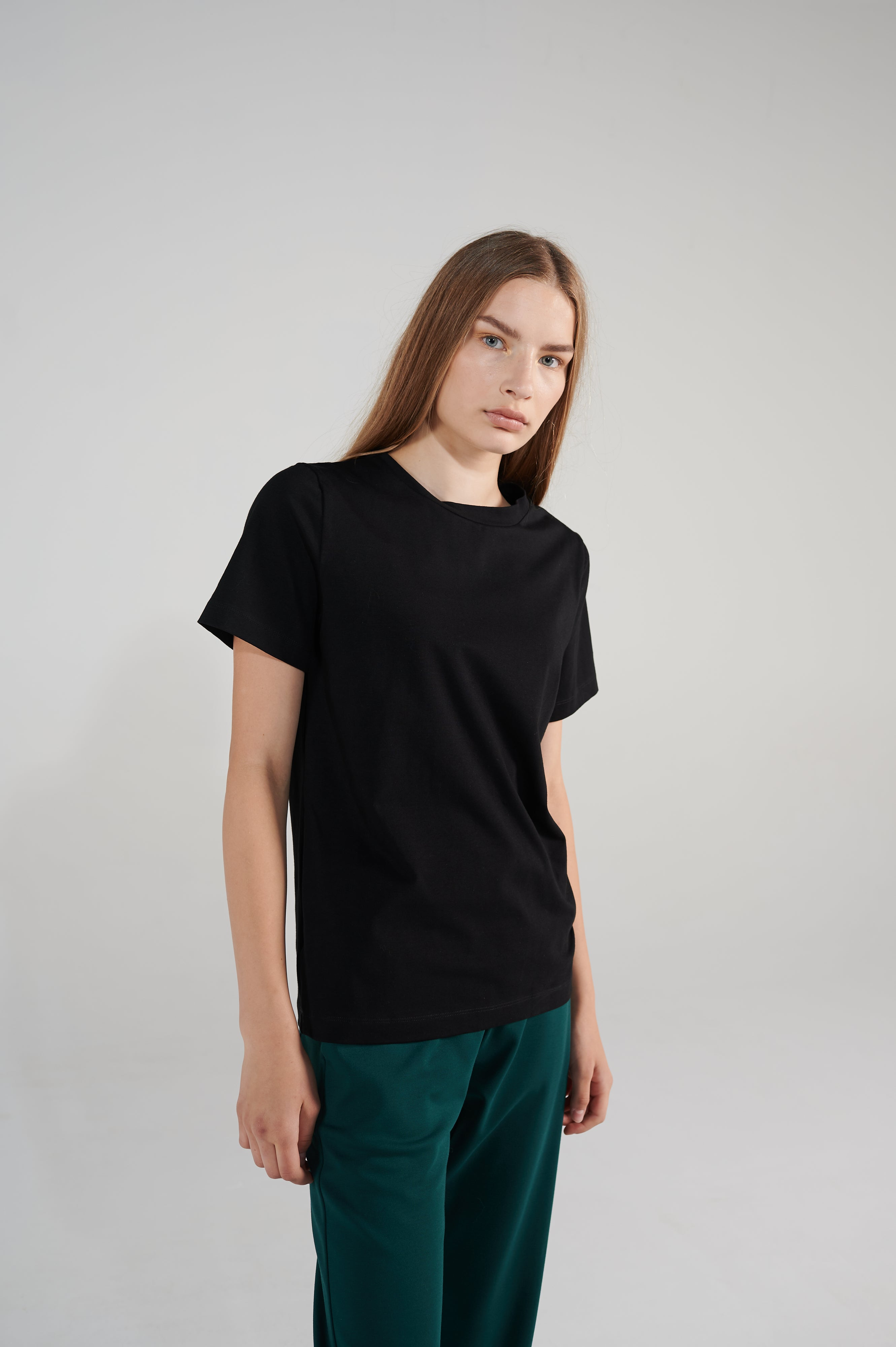 Le SLAP | Logo slim fit black t-shirt