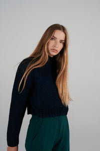Le SLAP  Blue knitted wool sweater madress