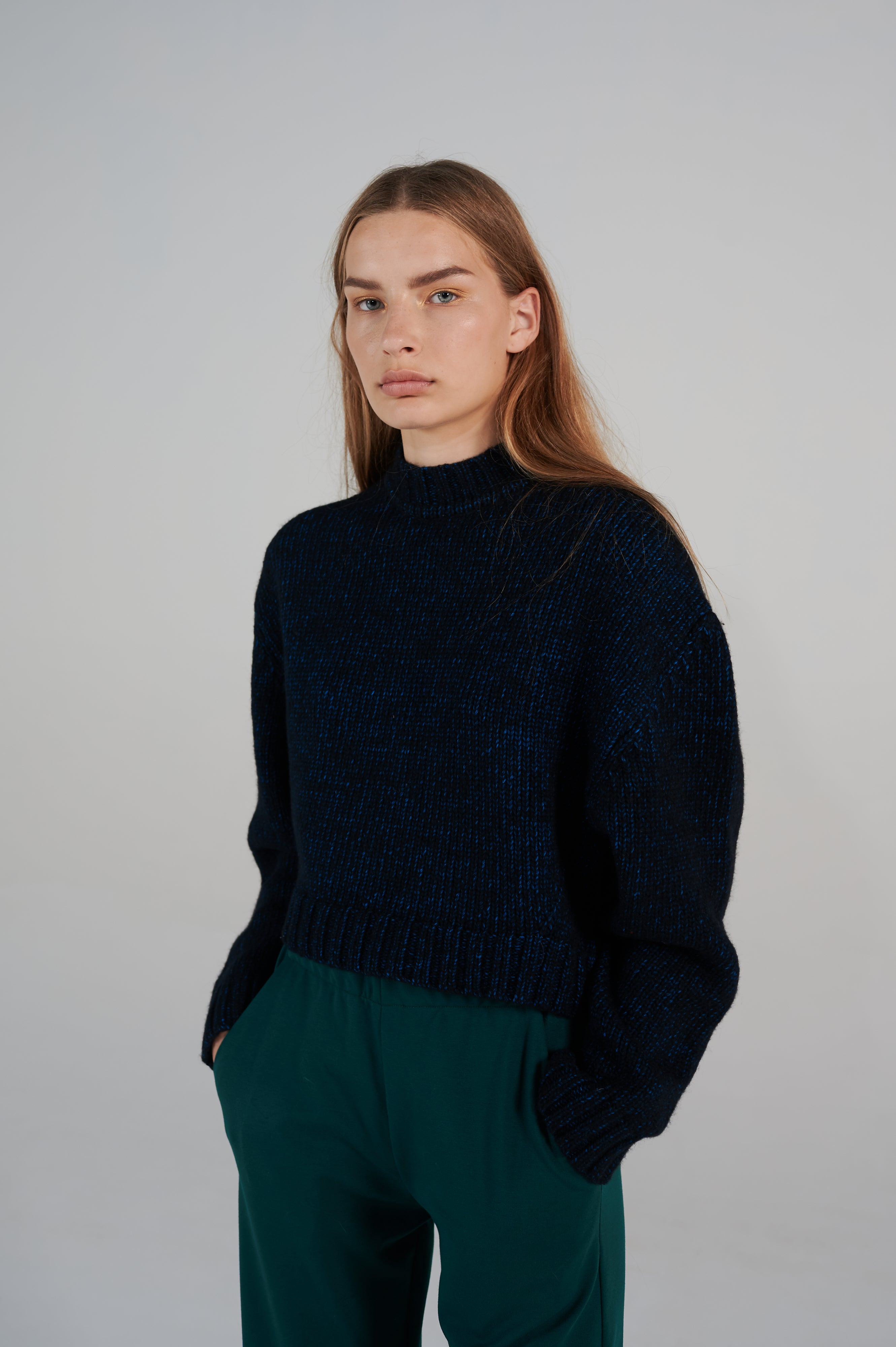 Le SLAP | Blue knitted sweater