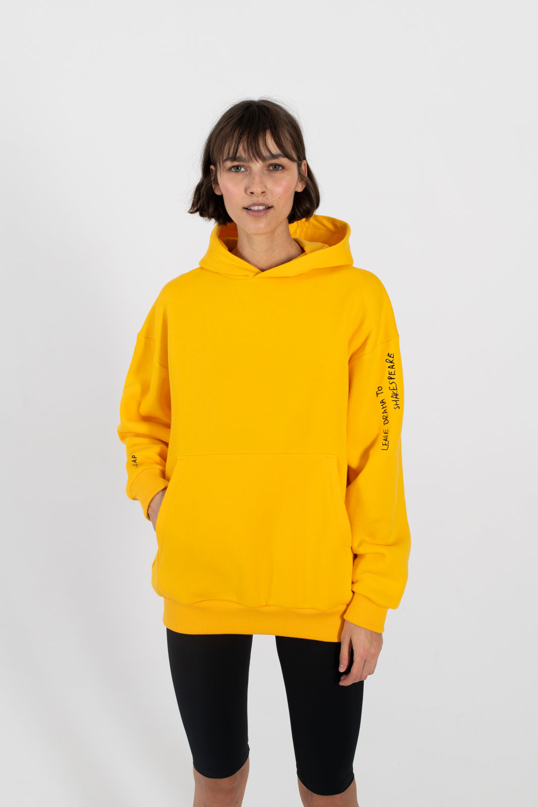 Le SLAP | SHAKESPEARE marigold yellow hoodie