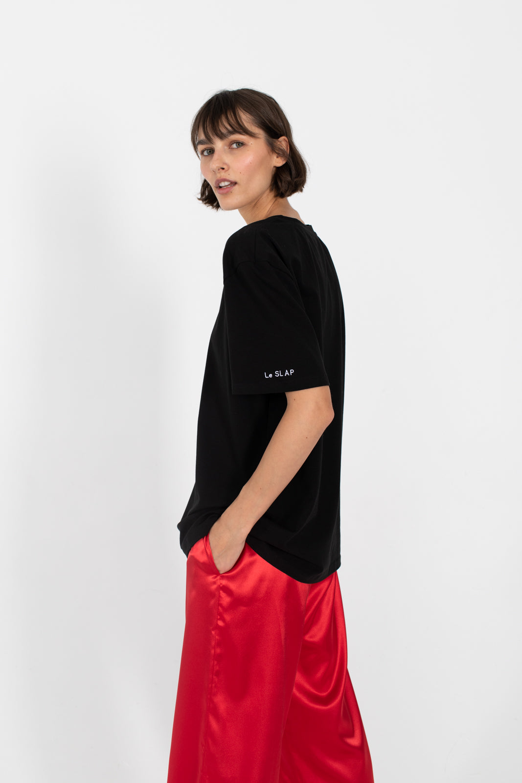Le SLAP | SHAKESPEARE Black oversize T-shirt