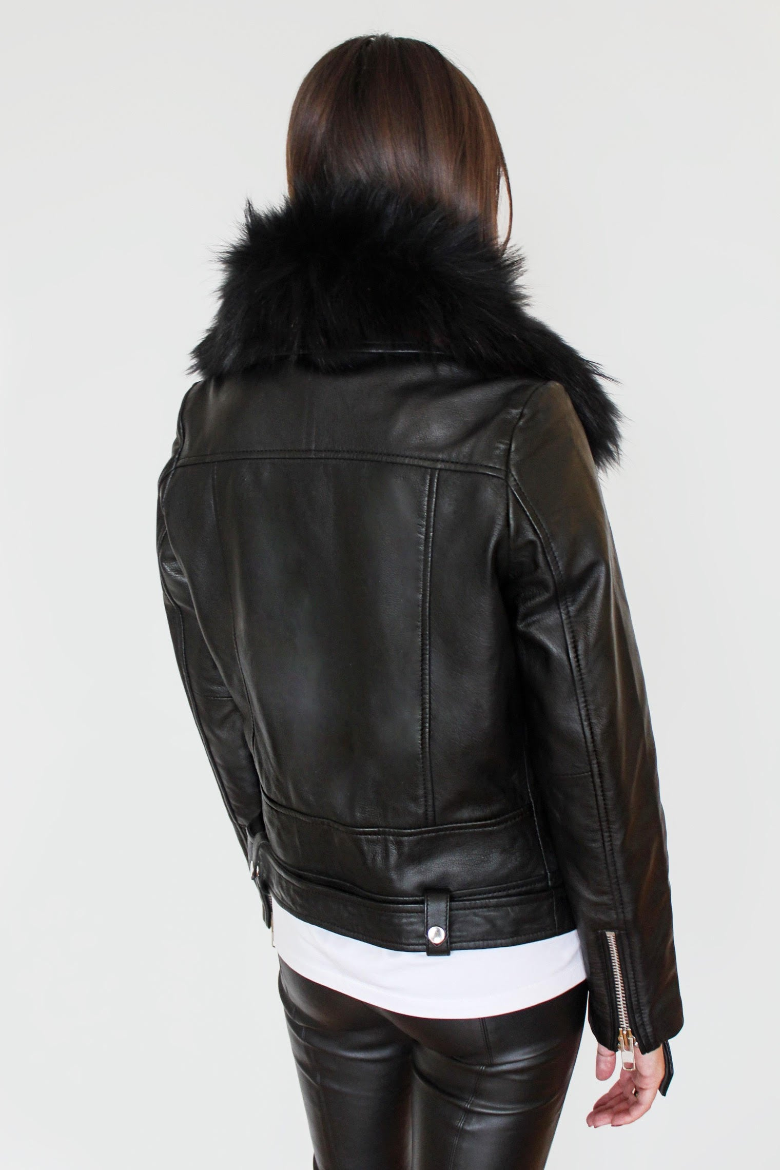 Le SLAP | Black leather biker jacket