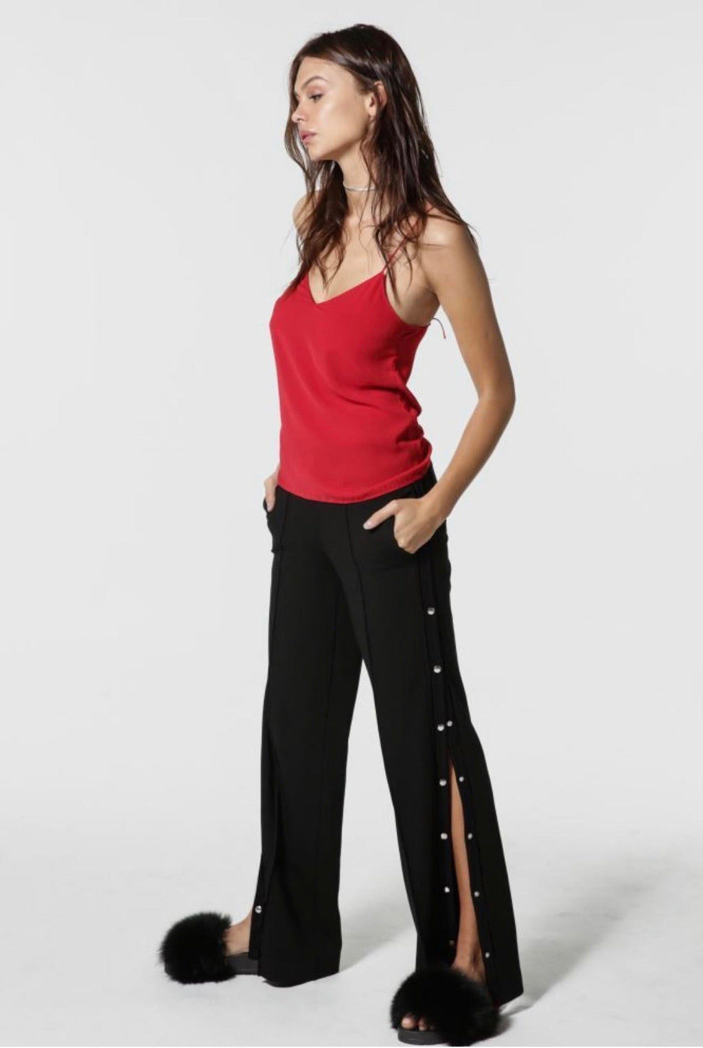 Le SLAP | Black wide-leg jogging pants