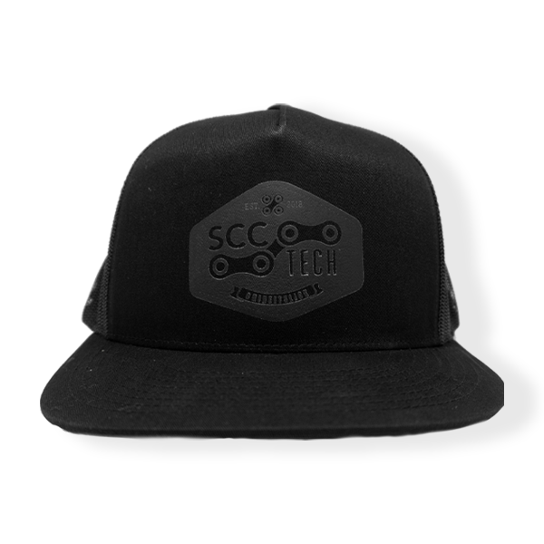 SCC Tech Black on Black Trucker Hat