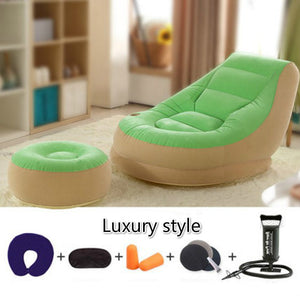 Hot selling creative Leisure bedroom single person beanbag  inflatable balcony nap bed folding lazy sofa chair