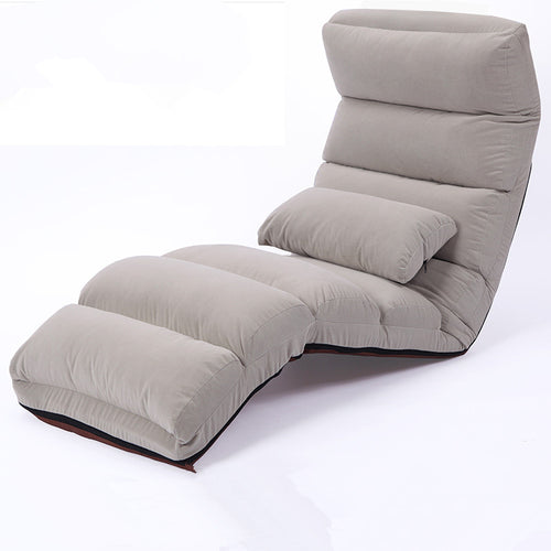 Floor Folding Chaise Lounge Chair Modern Fashion 6 Color Living Room Comfort  Daybed Lazy Reclining Upholstered Sleeper Sofa Bed