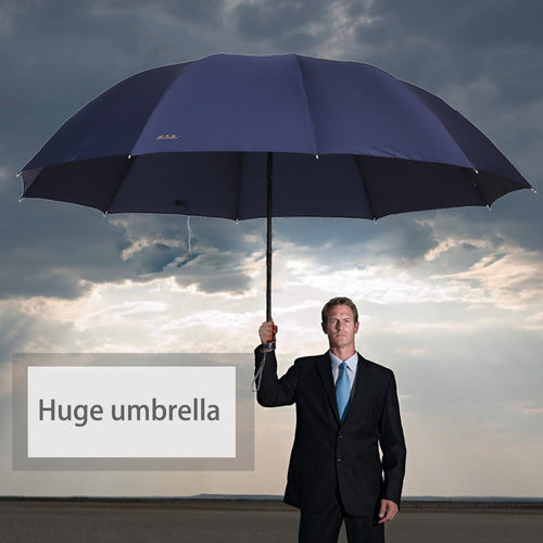 152cm Big top quality umbrella men rain woman windproof large paraguas male Women Sun 3 floding big umbrella outdoor parapluie