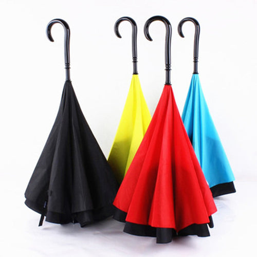 Double Layer Reverse Umbrella open/close in the narrowest space Creative graphic Windproof SPORTS LONG Umbrella inverted Umbrell