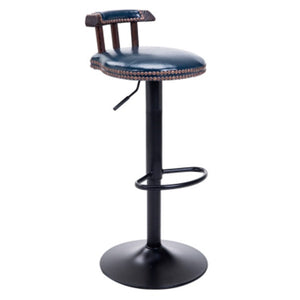 INDUSTRIAL VINTAGE RUSTIC RETRO SWIVEL COUNTER BAR STOOL CAFE CHAIR WITH BACKREST RESTAURANT BAR CAFE HOME KITCHEN DECORATION