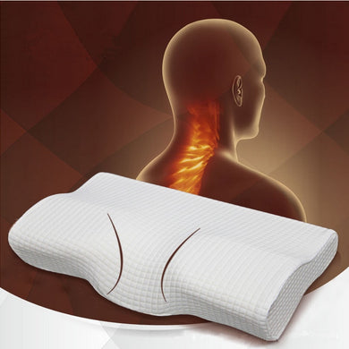 Orthopedic Latex Magnetic 50*30CM White Color Neck Pillow Slow Rebound Memory Foam Pillow Cervical Health Care Pain Release