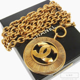 Vintage CHANEL Starburst CC Logo Medallion Necklace worn by Cookie Lyon of Empire