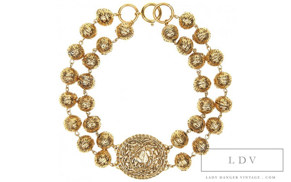 RARE! Vintage CHANEL Baroque Choker Necklace with Medallion