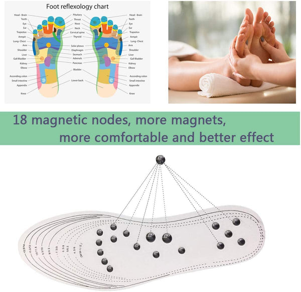 Magnetic Foot Massage Insoles Feet Pain Relief Acupressure Shoes
