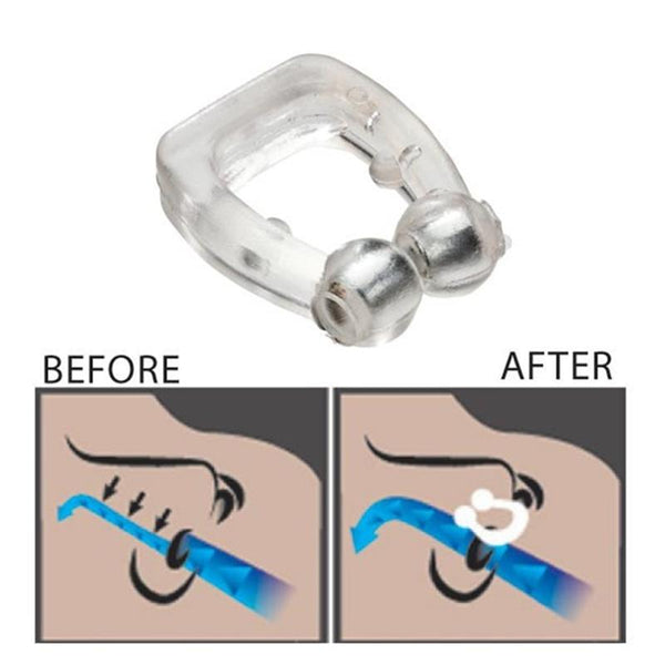 Anti Snoring Nose Clip Stop Snore Ring Vents Solution Relief