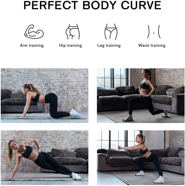 Best Gliding Sliders Fitness Exercise Discs Core Ab Workout Pilates Training Carpet and Wood Floors