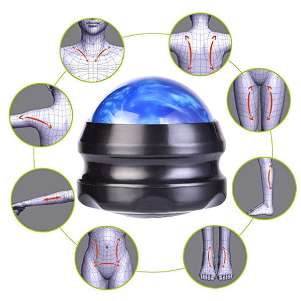 Massage Back Ball Roller Neck Body Manual for Muscle Pain Relief Deep Tissue 1