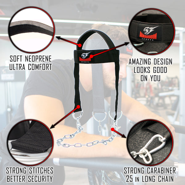 Best Padded Head Harness Thick Neck Strap Training Builder Exerciser