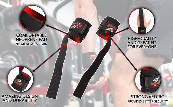 lifting Straps for Weight Lifting with Wrist Support Wraps