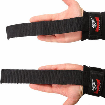 Lifting Straps for Weight Lifting with Wrist Support Wraps by Armageddon Sports - Armageddon Sports