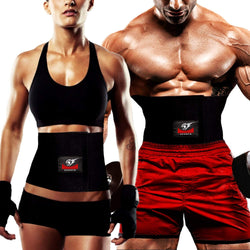 Premium Waist Trimmer Belt, Fully Adjustable Belly Fat Burner, Abdominal Weight Loss Belt for Men and Women by Armageddon Sports - Armageddon Sports