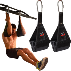 Premium Hanging Ab Straps for Pull Up Bar (Ab Slings) Hanging Leg Raise Straps by Armageddon Sports - Armageddon Sports