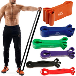 Pull-Up Assist & Exercise Resistance Bands for Men & Women Armageddon Sports