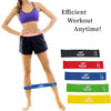 Resistance Loop Exercise Bands Set of 5 with Carry Bag by Armageddon Sports - Armageddon Sports