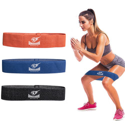 Booty Hip Resistance Fabric Non Slip Bands Set of 3 by ArmageddonSports - Armageddon Sports