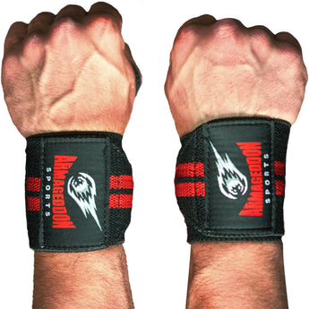 Premium Quality Fitness Gym Pair Wrist Wraps Support 12