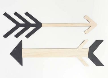 Wooden Arrow set of 2