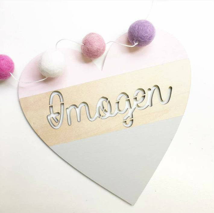 Dipped Heart Personalised Plaque