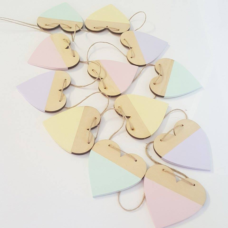 Dipped Heart Garland