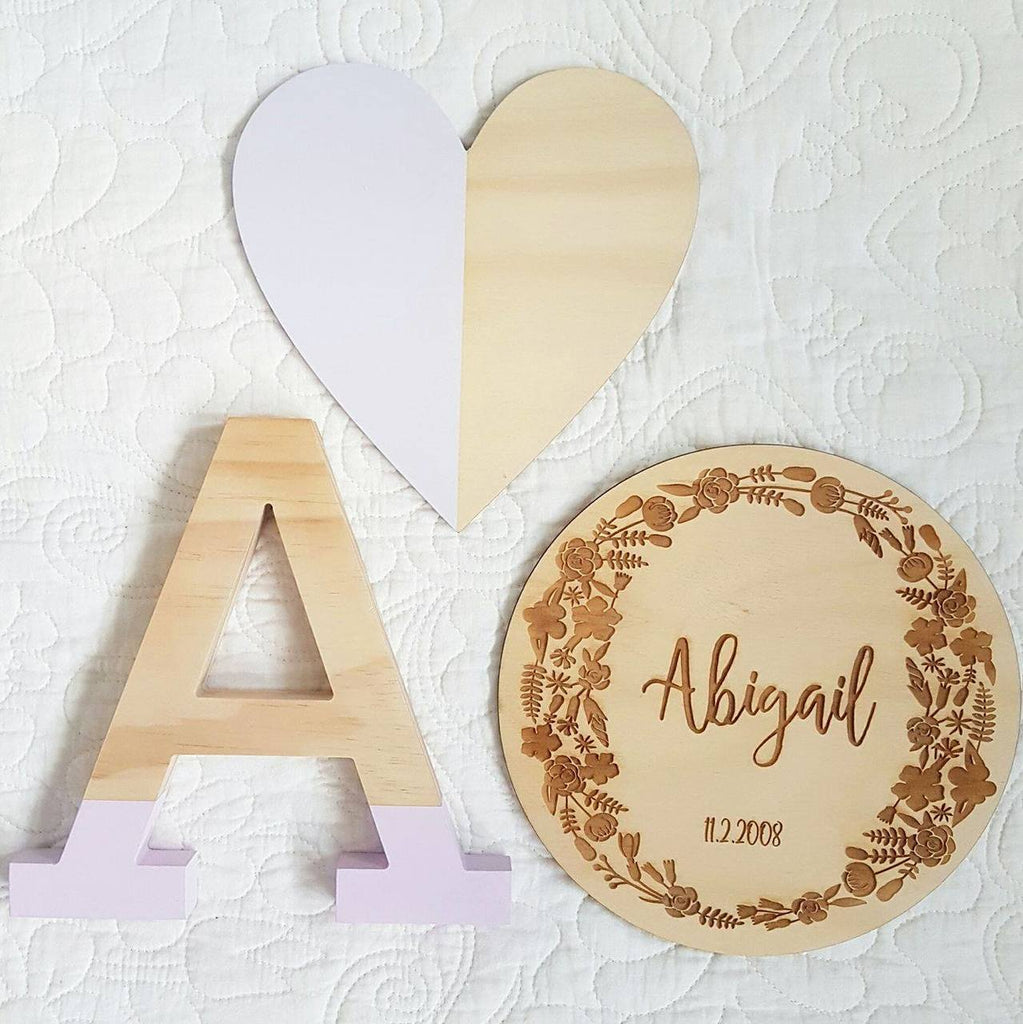 Half Dipped Heart Plaque